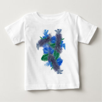 colourful feathers tee shirt