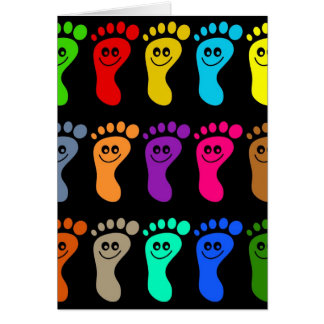 Colourful Feet Cards