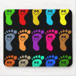 Colourful Feet Mouse Mats