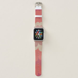 COLOURFUL FEMININE PINK ORANGE RAINBOW WAVES APPLE WATCH BAND