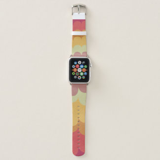COLOURFUL FEMININE PINK YELLOW RAINBOW WAVES APPLE WATCH BAND