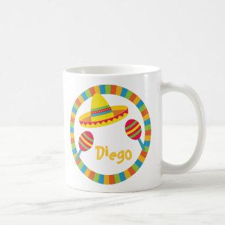 Colourful Fiesta Sombrero Hat Maracas Classic White Coffee Mug