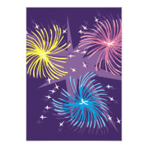 Colourful Fireworks Invitations