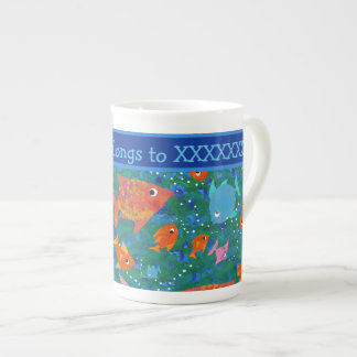 Colourful Fish in the Sea Custom Bone China Mug
