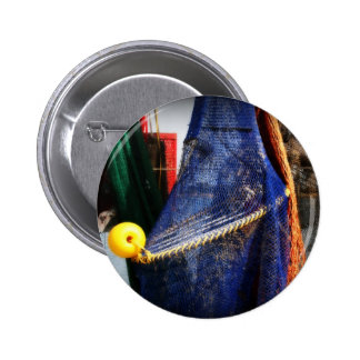 Colourful fishing nets, vignetted, Florida scene Pinback Buttons