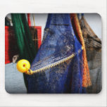 Colourful fishing nets, vignetted, Florida scene Mouse Pad