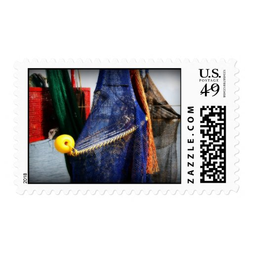 Colourful fishing nets, vignetted, Florida scene Postage