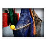 Colourful fishing nets, vignetted, Florida scene Postcard