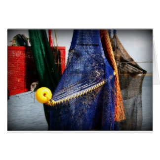 Colourful fishing nets, vignetted, Florida scene Cards