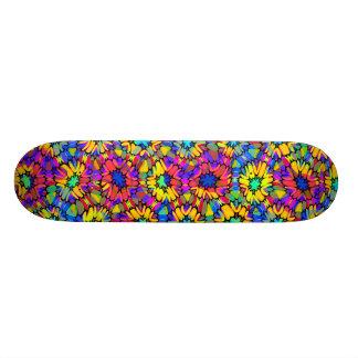 Colourful Floral Pattern (var02) - Skateboard