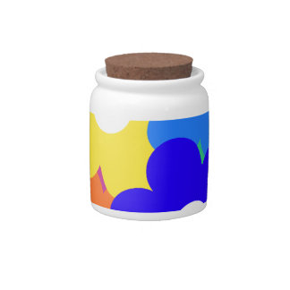 colourful flower bunch candy jars
