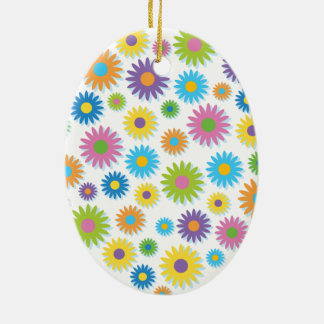 Colourful Flower Heart Christmas Ornaments