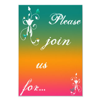Colourful flower invites