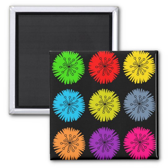 Colourful Flowers Magnet