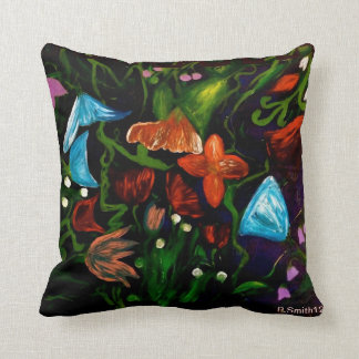 colourful flowers throw pillow