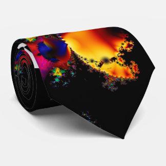 Colourful Fractal Art Tie
