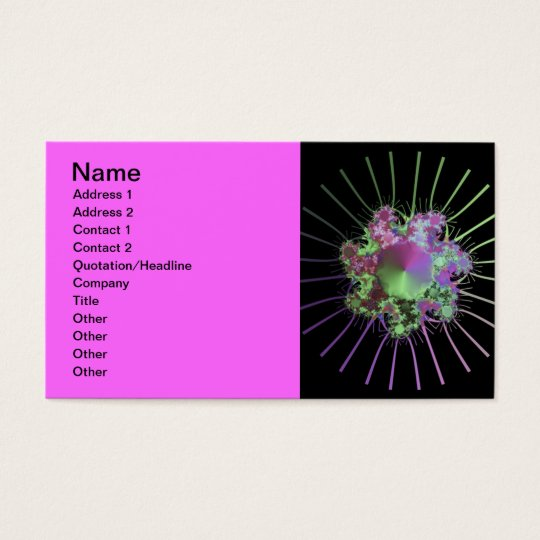 colourful-fractals business card