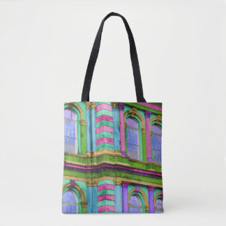 Colourful French Architecture Tote Bag