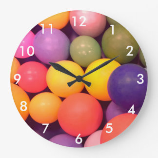 Colourful Fun Ball Pit Pattern Photography Clock