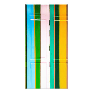 Colourful garage doors card