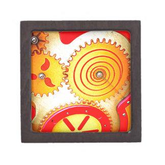 Colourful Gear Art Print Jewelry Box