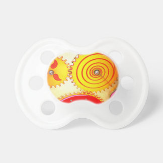 Colourful Gear Art Print Baby Pacifiers