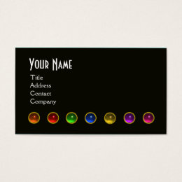 Color consultant interior design staging business cards templates colourful gem stones black white grey monogram business card reheart Choice Image