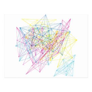 colourful geometric design postcards