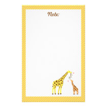 Colourful Giraffe Mommy and Baby Calf For Kids Stationery