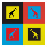 Colourful Giraffes Poster