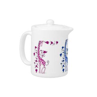 Colourful Giraffes Teapot