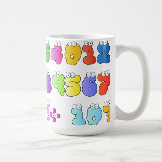 COLOURFUL GOOGLY EYE NUMBERS BUBBLY FUN KIDS EDUCA COFFEE MUG