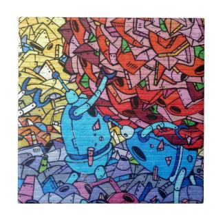 Colourful Graffiti Art Tile