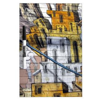 Colourful Graffiti House Design in San Francisco Dry Erase Whiteboards