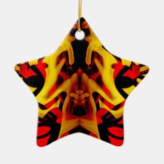 Colourful graffiti pattern ceramic ornament