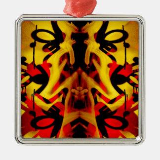 Colourful graffiti pattern metal ornament