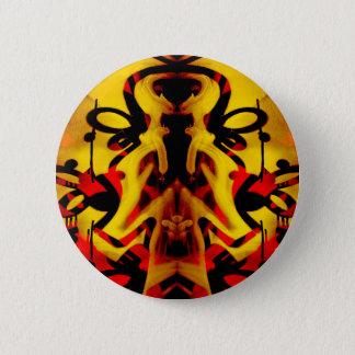 Colourful graffiti pattern pinback button