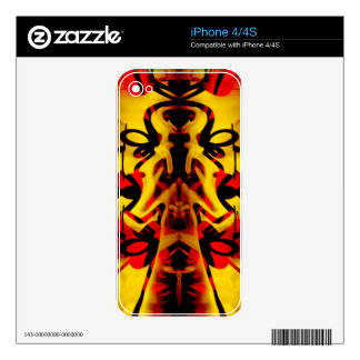 Colourful graffiti pattern skin for the iPhone 4S