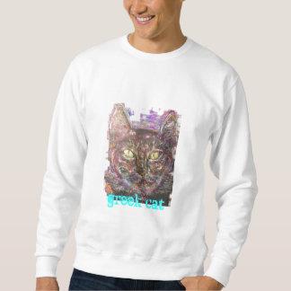 colourful greek cat sweatshirt