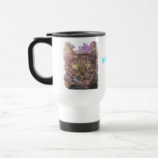 colourful greek cat travel mug