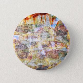 Colourful grunge graffiti button