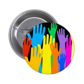 Colourful Hands 2 Inch Round Button