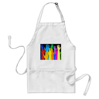 Colourful Hands Adult Apron