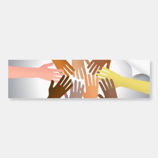 Colourful Hands Bumper Sticker