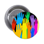 Colourful Hands Button