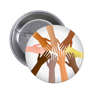 Colourful Hands Pinback Button