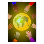 Colourful Hands Card