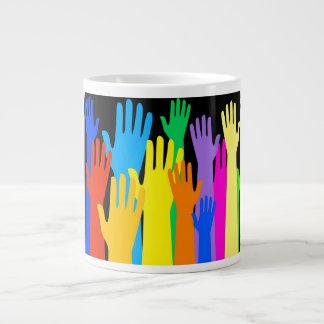 Colourful Hands Giant Coffee Mug