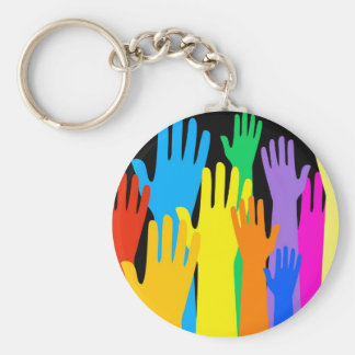 Colourful Hands Keychain