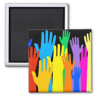 Colourful Hands Magnet